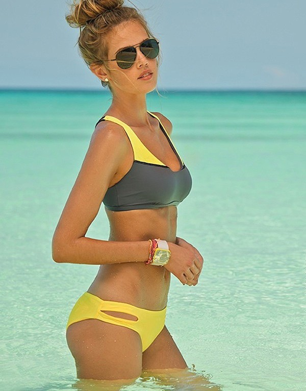 swimwear sunglasses swimwear yellow yellow swimwear yellow swimwear gray swimwear sporty bikini summer outfits yellow top bikini bottoms bikini top bikini's