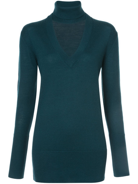 top women wool green