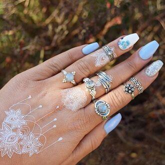 jewels cherry diva ring boho ring boho bohemian gypsy knuckle ring boho jewelry silver silver ring silver jewelry sterling silver rings