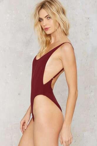 bodysuit nastygal deep plunge low back