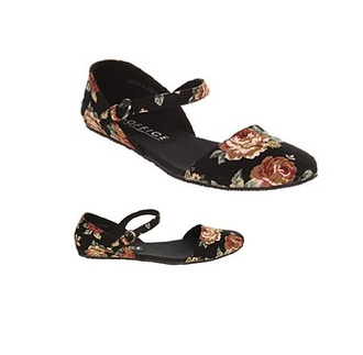canvas flats closed toe ankle strap open sides skimmers