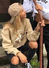 sweater,beige,camel,lisaandlena,tumblr