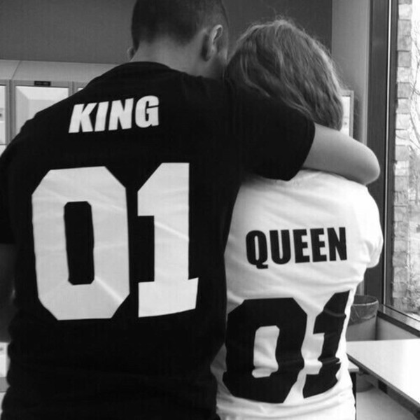 shirt king and queen black and white shirt number shirt couple couples shirts mens t-shirt