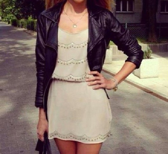 veste robe dress white black