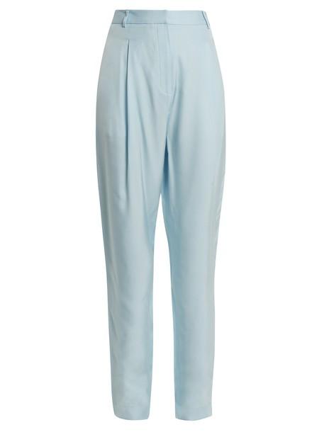 pleated high light blue light blue pants
