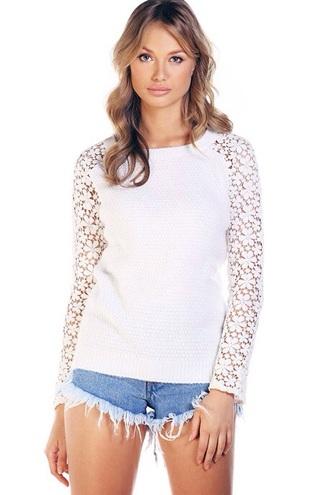 top daisy flower white knitwear cute sweaters dream beautiful