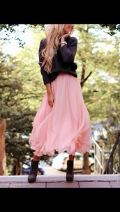 skirt,rose,pink,volants