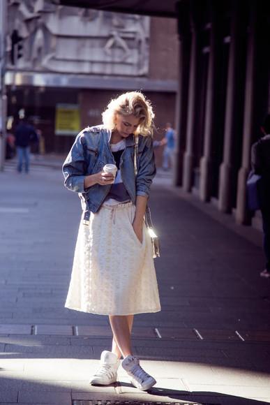 zanita top skirt shoes jacket bag blogger