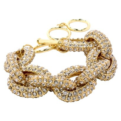 Pave Stone Link Bracelet - Gold : Target