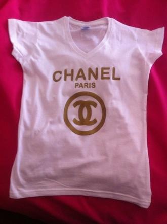t-shirt chanel inspired chanel drip tshirt
