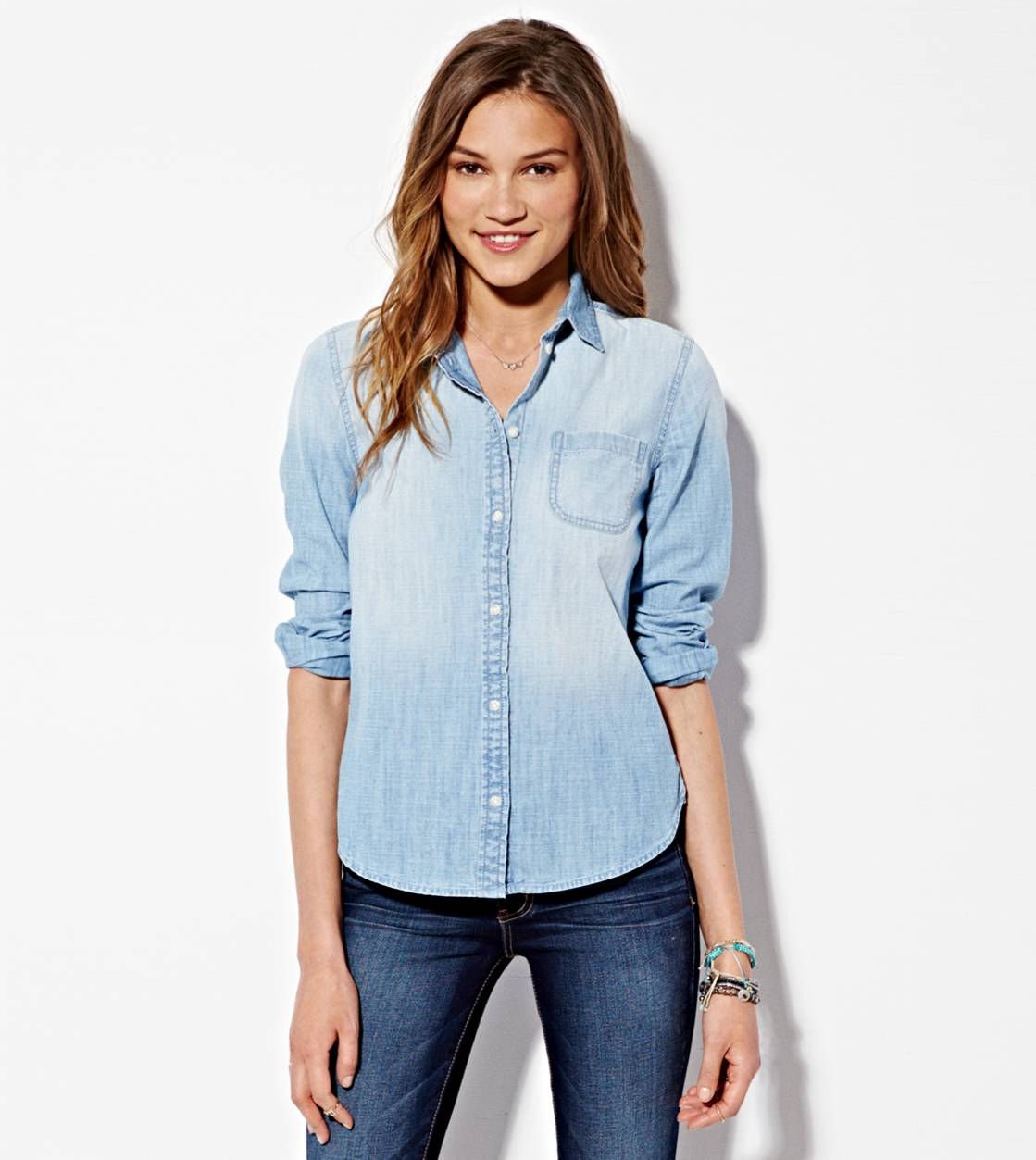 American Eagle Womens Denim Shirt