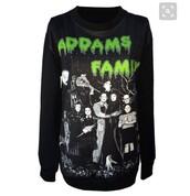 sweater,addams family,wednesday addams,spooky,pastel goth,goth,creepy,creepy cute,black