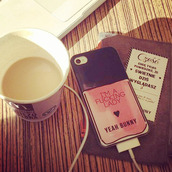 phone cover,iphone case,iphone 6 case,fucking lady,nail polish,yeahbunny,coffee,pink iphone case,yeah bunny