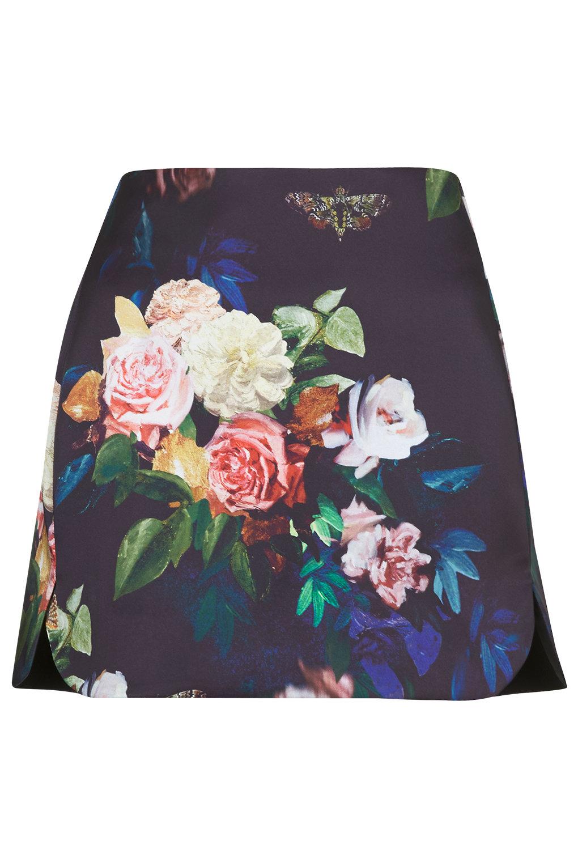 Tall blur rose print pelmet skirt