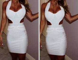 dress white dress white bandage dress