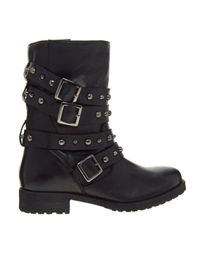 ASOS | ASOS ANYTIME Leather Biker Boots at ASOS