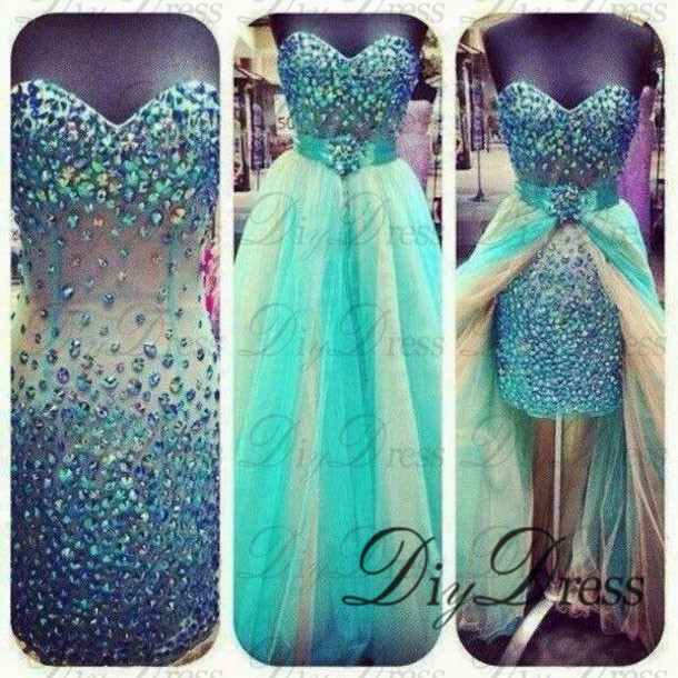 Neck two piece sparkly prom dresses apd1292 from diydressonline on storenvy