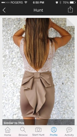 mini skirt shirt beige skirts bow skirt