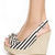 Soda Octet Black & Beige Striped Slingback Wedge Heels - $29.00 ($20-50) - Svpply