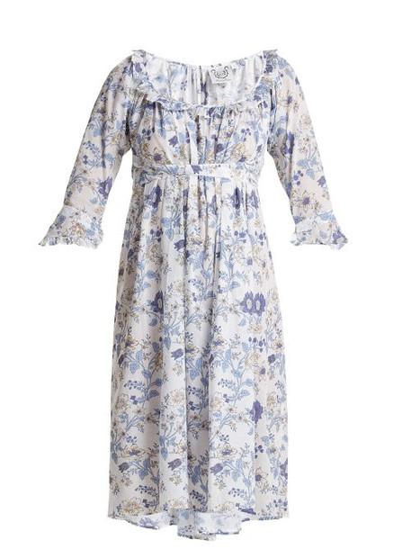 Thierry Colson - Chintz Antoinette Printed Cotton Dress - Womens - Blue White