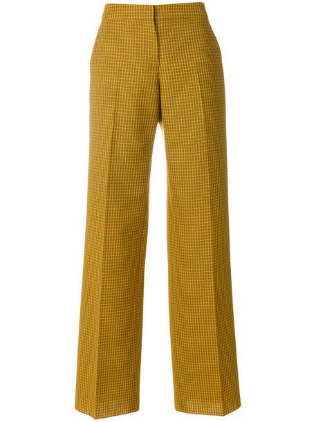 Pringle Of Scotland - contrast check trousers - women - Wool - 6, Wool