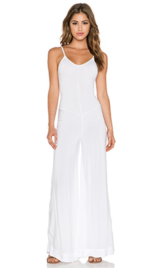 Indah Bianca Wide Leg Jumpsuit in White from Revolve.com