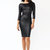GJ | Get The Scoop Faux Leather Dress $26.30 in BLACK RED - Bodycon Dresses | GoJane.com