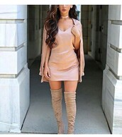 dress,pink,silk,dressy,cute,nude,tones,girly,pink dress