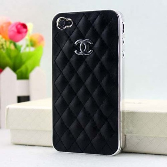 jewels chanel chanel case chanel, phone cases, phone, classy, cute, white, leather, jewel, miley cyrus,kim kardashian, chanel pattern,