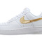 Nike wmns air force 1 white gold womens casual shoes af1 315115-144 | ebay