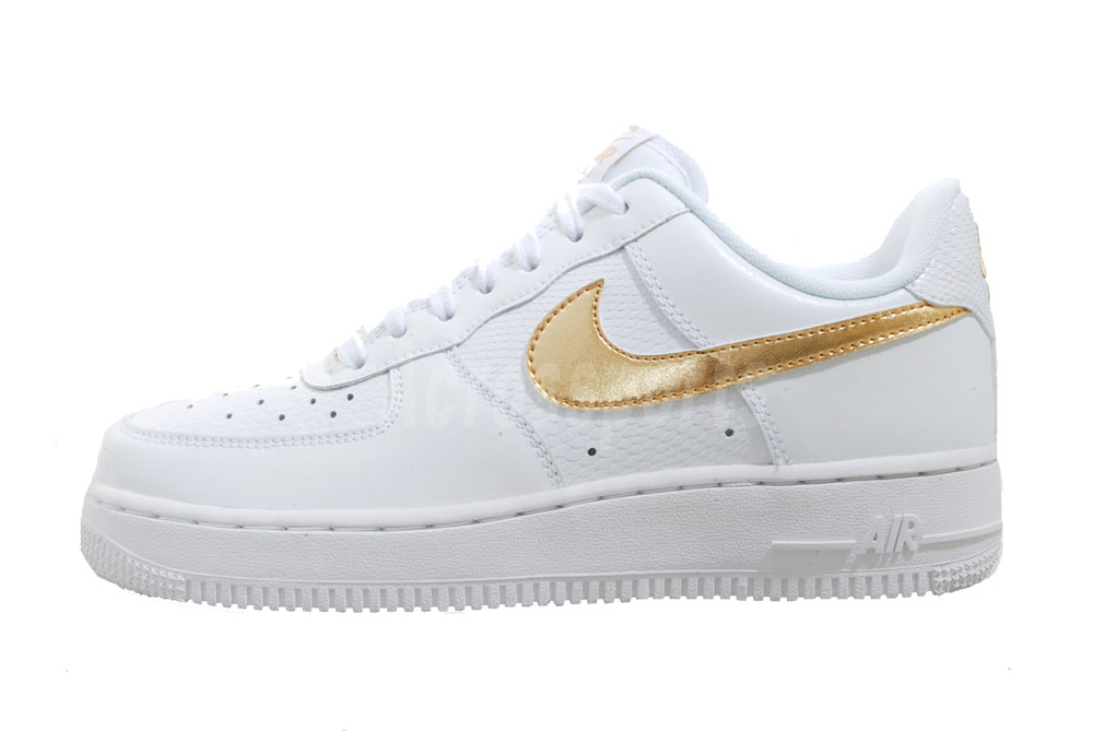 Nike Wmns Air Force 1 White Gold Womens Casual Shoes AF1 315115-144 : eBay