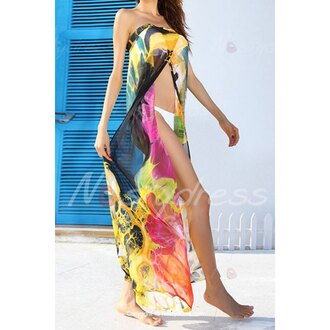 dress sleeveless print cover lace up cover up printed coverse