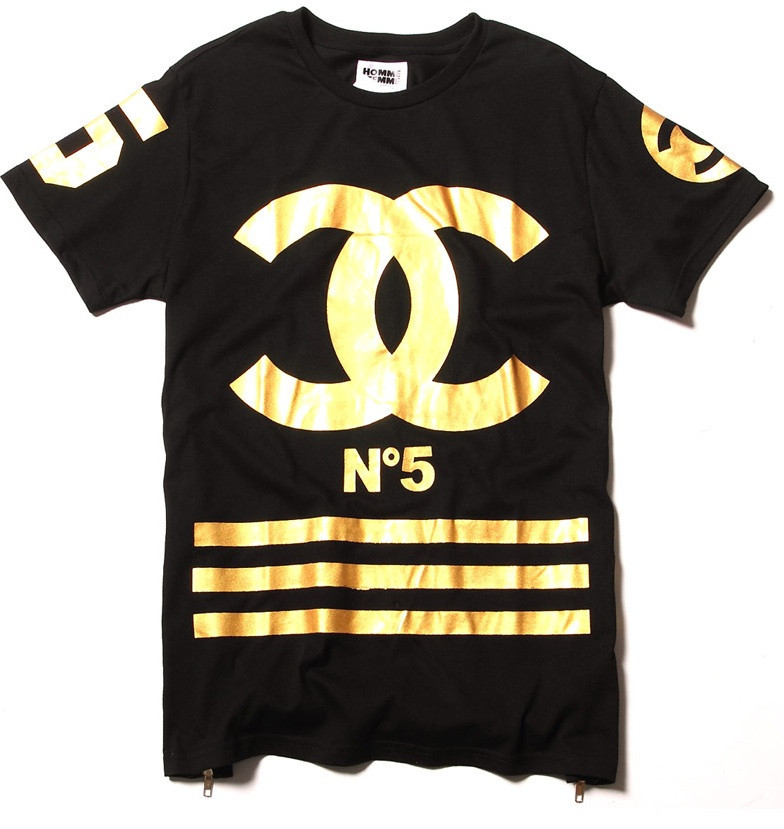 Coco n5 homme femme gold foil t