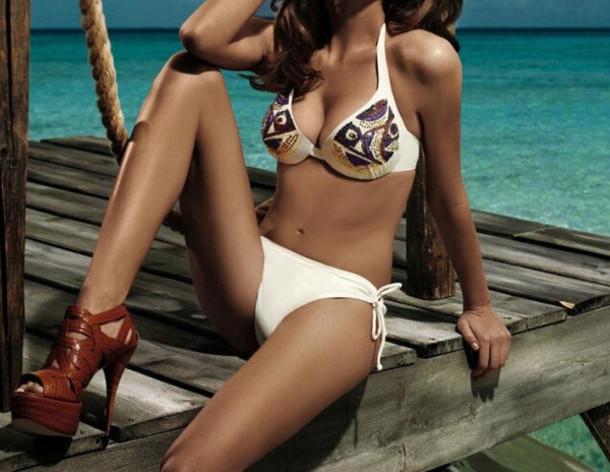 Swimwear: bikini, summer, fashion, girly, girls hbo, white ...