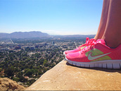shoes,nike,run,sneakers,nike sneakers,pink,neon