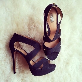 shoes black heels black high heels open toes black high heels picture from we heart it cute high heels