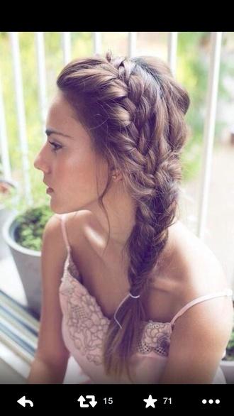 braid hair tutorial french braid prom beauty hat