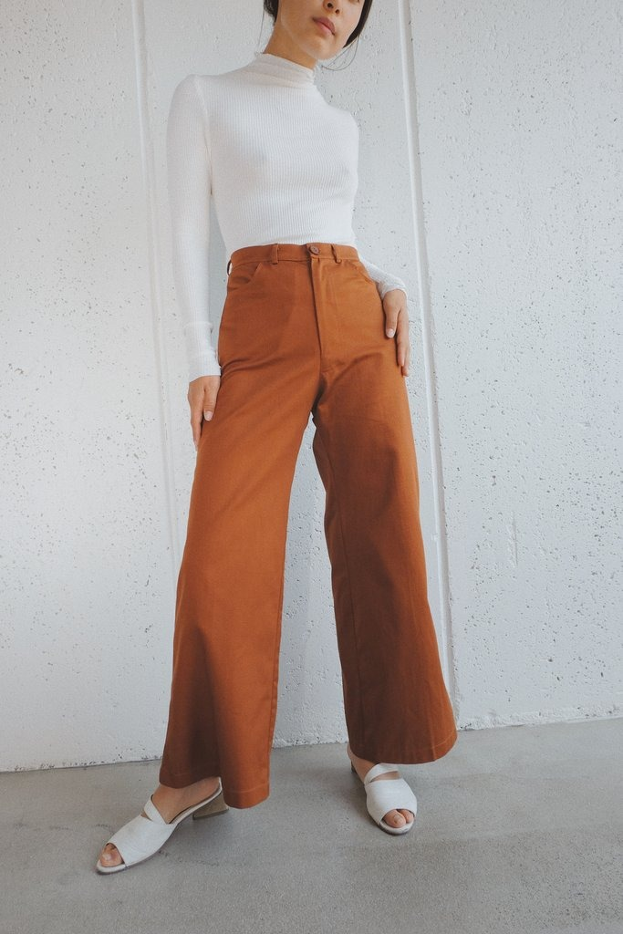ollie pant in cacao twill
