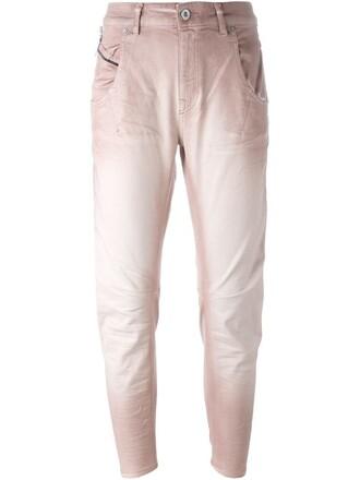 jeans purple pink
