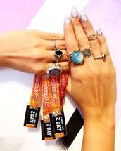 nail accessories,tumblr,nail polish,nail art,nails,metallic nails,metallic,ring,gemstone ring,knuckle ring