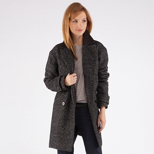 Over-size coat | Coats and jackets | Comptoir des Cotonniers