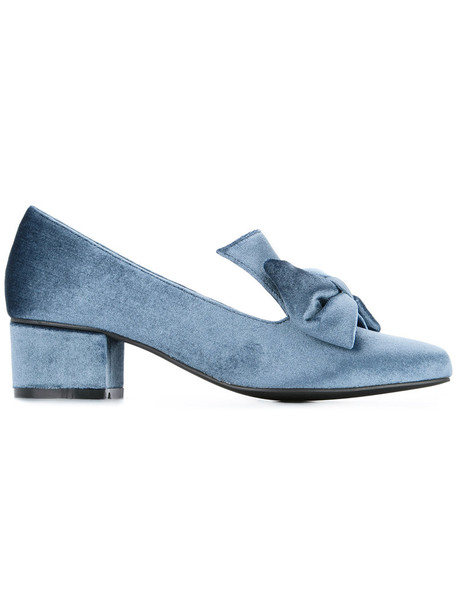 macgraw women love lady pumps leather blue velvet shoes