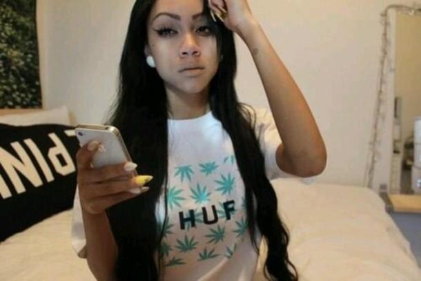 shirt huff tshirt huf shirt huf weed shirt mary jane marijuana clothing