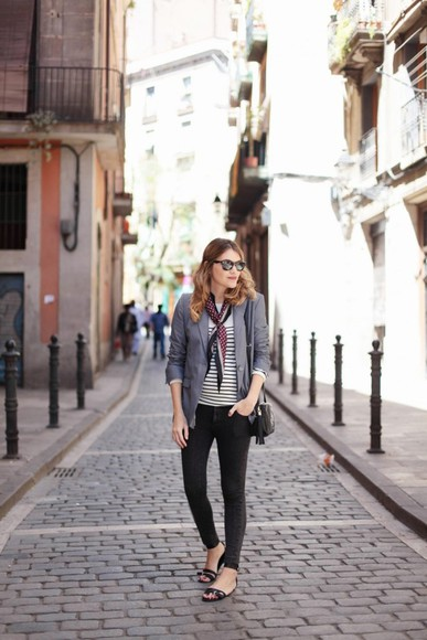 my daily style jacket bag jeans scarf shoes