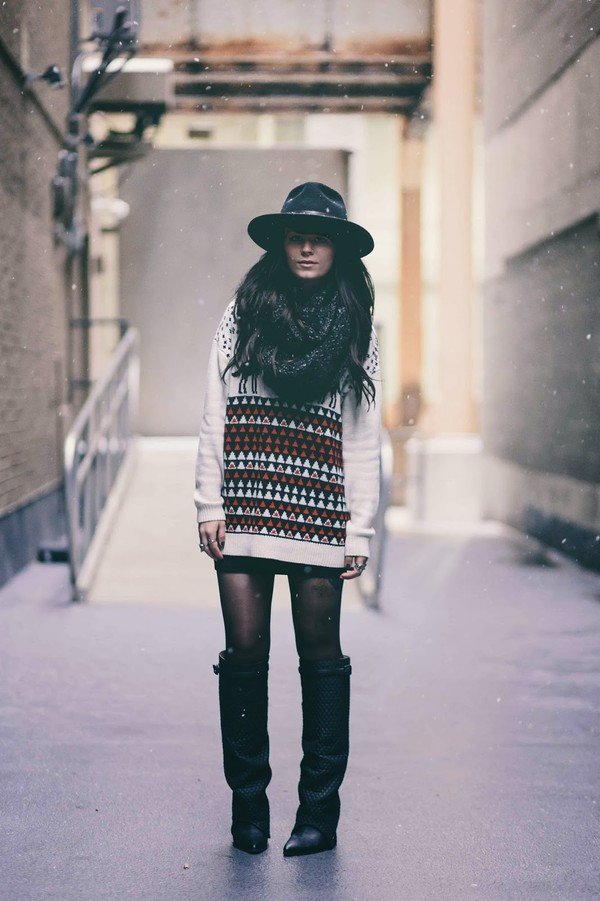 fashion fledgling sweater scarf hat shoes