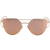 Metal Bar Golden Frame Aviator Sunglasses