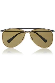 Aviator metal sunglasses   Balenciaga   65% off   THE OUTNET