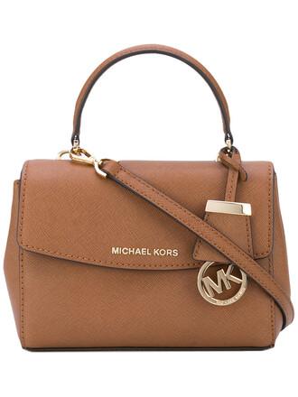women bag crossbody bag leather cotton brown