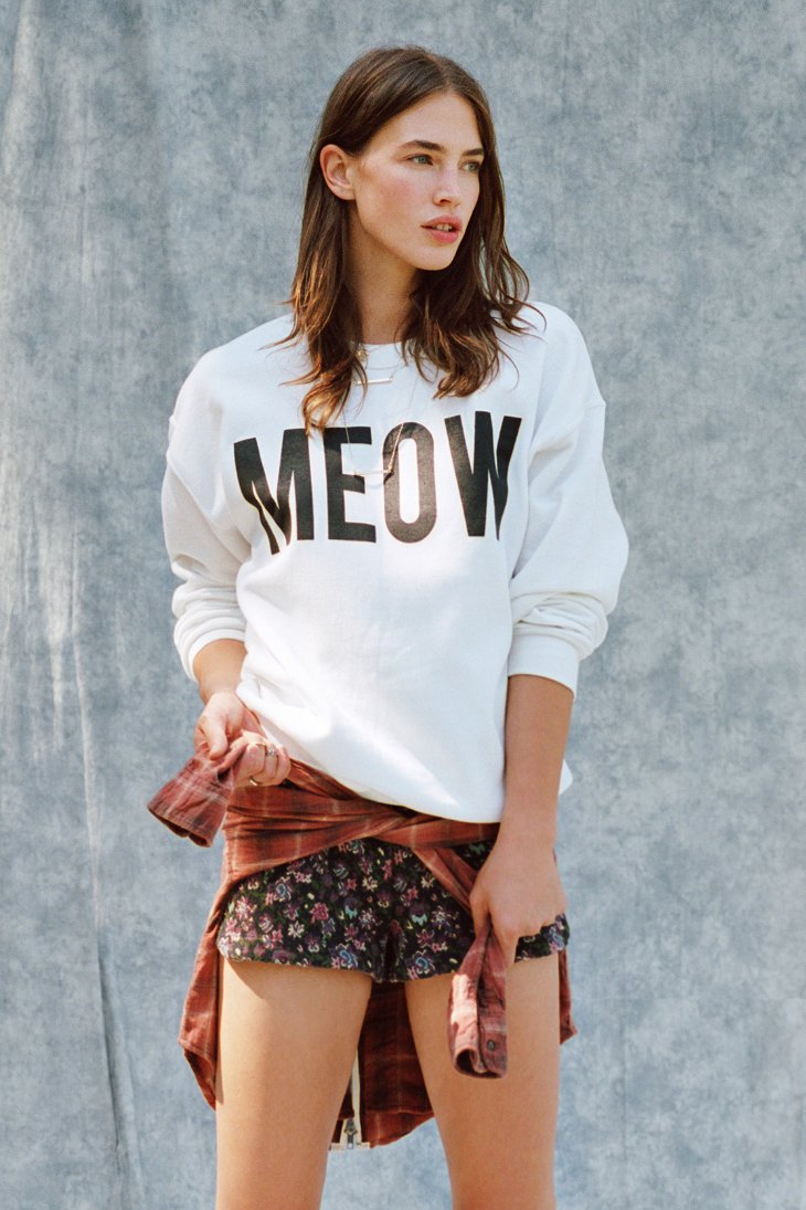 Meow Sweatshirt - Urban Outfitters