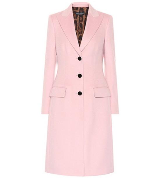 Dolce & Gabbana Wool coat in pink